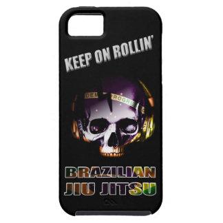 Caso de Iphone 5 del cráneo de Jiu Jitsu del brasi iPhone 5 Case-Mate Cárcasa