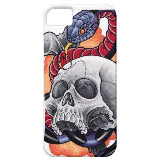 Caso de Iphone 5 del cráneo y de la serpiente Funda Para iPhone SE/5/5s