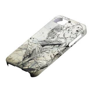 Caso de Iphone 5 del cuervo del Grunge del vintage iPhone 5 Carcasas