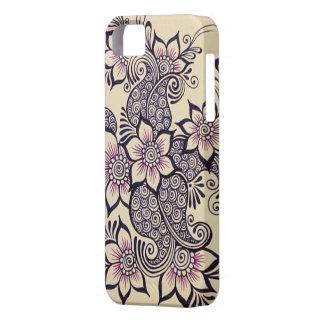 Caso de IPhone 5 del diseño de la alheña Funda Para iPhone SE/5/5s