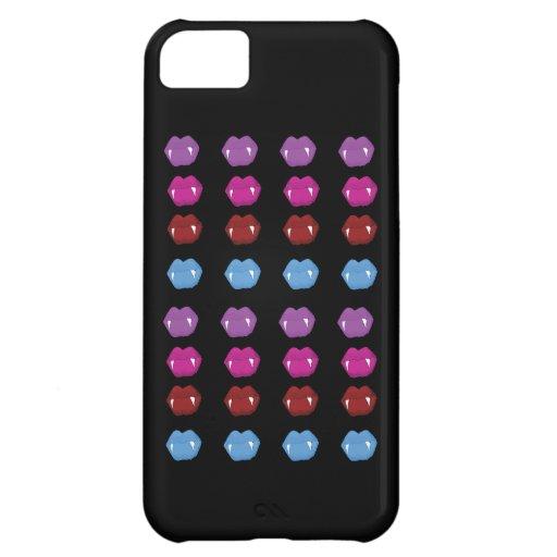 Caso de Iphone 5 del modelo de los labios del vamp