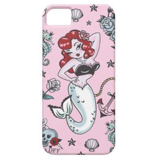 Caso de Iphone 5 del rosa de la sirena de Molly de iPhone 5 Case-Mate Fundas