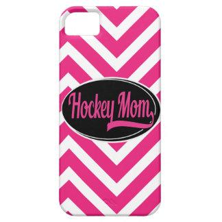 Caso de Iphone 5 - mamá del hockey, Chevron rosado iPhone 5 Carcasa