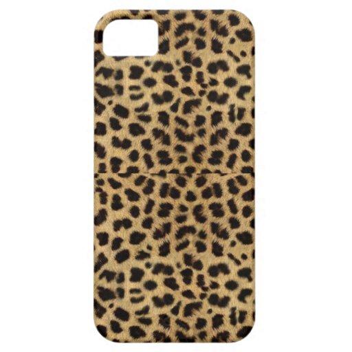 Caso de Iphone 5S del estampado leopardo iPhone 5 Funda