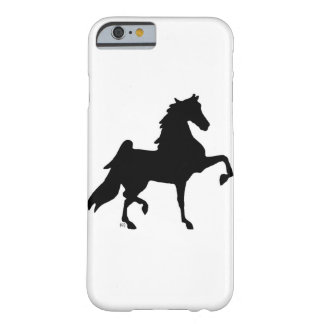 Caso de Iphone Barely There Saddlebred Silhouet