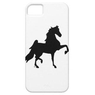 Caso de Iphone Barely There silueta de Saddlebred iPhone 5 Case-Mate Coberturas