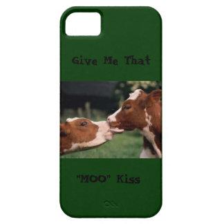 Caso de IPhone (beso del MOO de la vaca) iPhone 5 Fundas