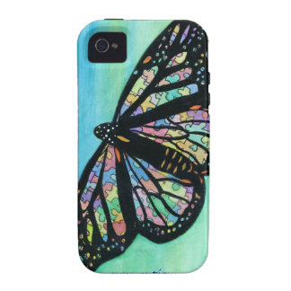Caso de Iphone con arte de la mariposa de Jann Ell Vibe iPhone 4 Carcasa