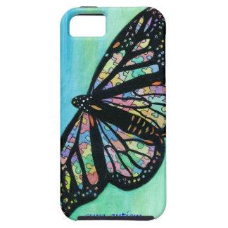 Caso de Iphone con arte de la mariposa de Jann iPhone 5 Funda