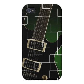 Caso de Iphone con la guitarra agrietada iPhone 4 Cárcasa
