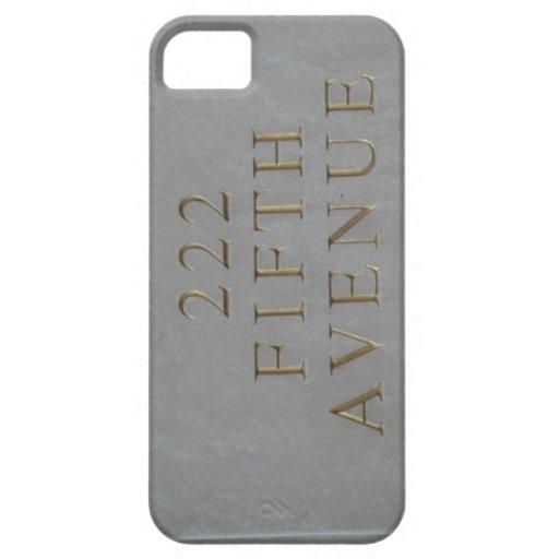 CASO de Iphone de 222 Quintas Avenidas iPhone 5 Carcasa