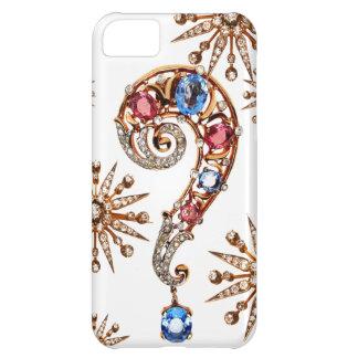 Caso de Iphone de la bisutería de los diamantes de Carcasa Para iPhone 5C