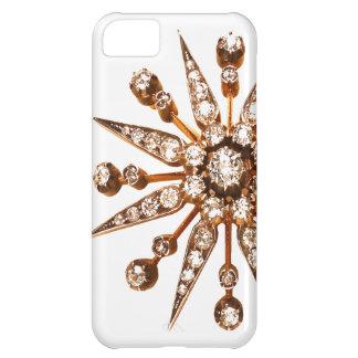 Caso de Iphone de la bisutería del vintage de Star Funda Para iPhone 5C