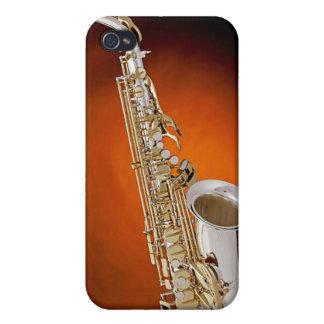 Caso de Iphone de la imagen del saxofón iPhone 4 Coberturas