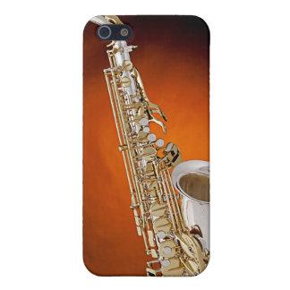 Caso de Iphone de la imagen del saxofón iPhone 5 Funda