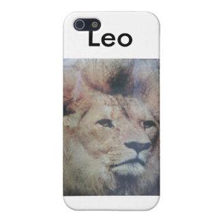 Caso de Iphone de la muestra del zodiaco de Leo iPhone 5 Fundas