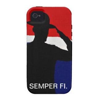 Caso de IPhone de la silueta de Semper que saluda  Case-Mate iPhone 4 Carcasas