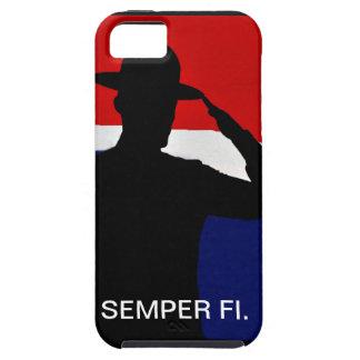 Caso de IPhone de la silueta de Semper que saluda  iPhone 5 Case-Mate Coberturas