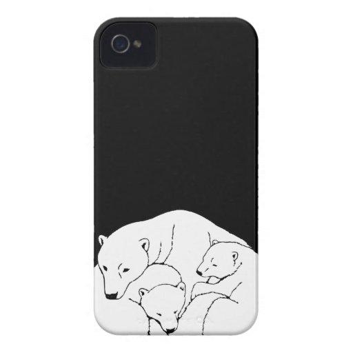 Caso de Iphone de los osos del caso 3 de IPhone 4  iPhone 4 Cobertura