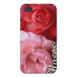 Caso de Iphone de los rosas iPhone 4 Protectores