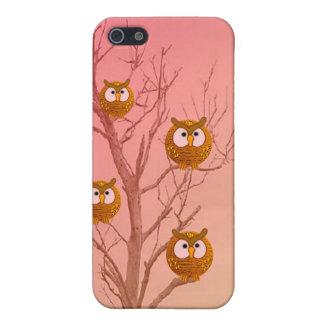 Caso de Iphone del árbol del búho iPhone 5 Carcasa