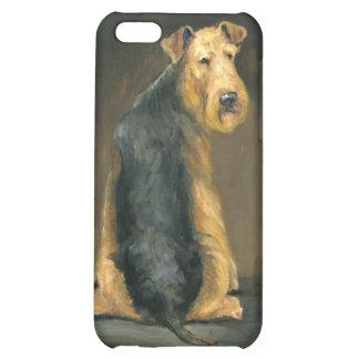 Caso de Iphone del arte del perro de Airedale Terr