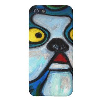 Caso de Iphone del arte pop de Boston Terrier iPhone 5 Funda