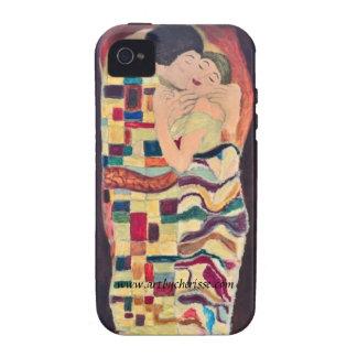 """Caso de IPhone del """"beso eterno"""" Vibe iPhone 4 Carcasas"""