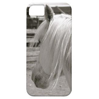 Caso de Iphone del caballo blanco iPhone 5 Case-Mate Cobertura