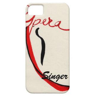 Caso de IPhone del cantante de la ópera iPhone 5 Case-Mate Cárcasa