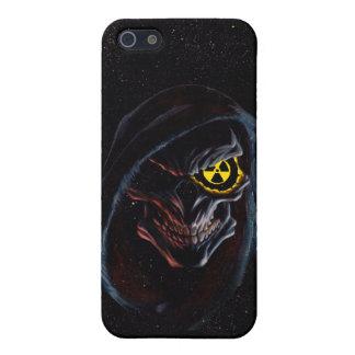 Caso de Iphone del cráneo de la sombra del pesar iPhone 5 Fundas