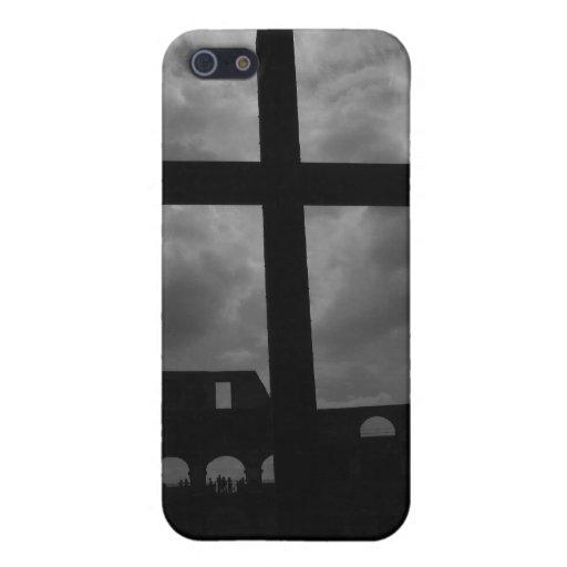 Caso de Iphone del crucifijo iPhone 5 Protectores