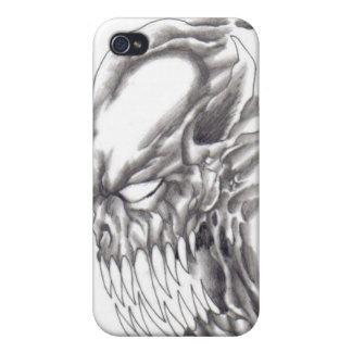 Caso de Iphone del demonio del fantasma iPhone 4 Protectores