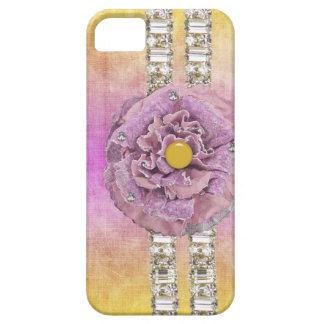 Caso de IPhone del diamante artificial de la flor iPhone 5 Carcasas