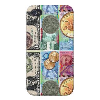 Caso de Iphone del dinero del dinero iPhone 4 Carcasas