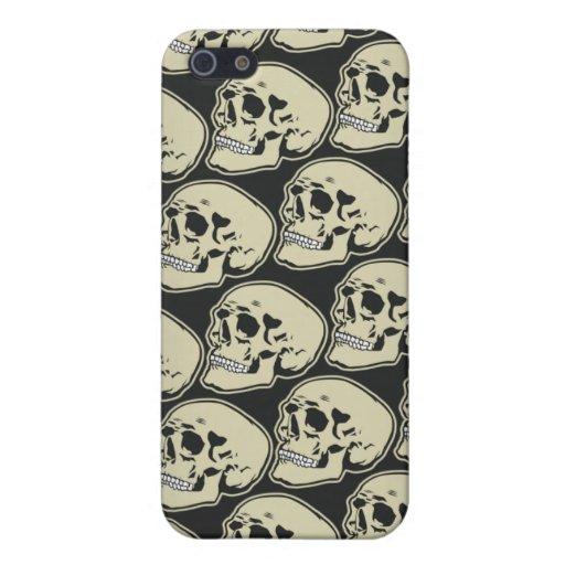 Caso de IPhone del diseño de los cráneos iPhone 5 Funda