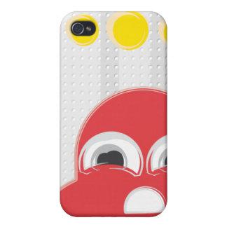 Caso de Iphone del fantasma del PackMan del cangre iPhone 4 Carcasa