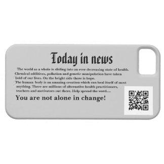 Caso de IPhone del flash de noticias Funda Para iPhone 5 Barely There