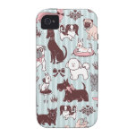 Caso de Iphone del gabinete de señora del perrito  Case-Mate iPhone 4 Carcasa