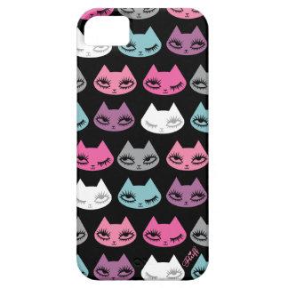 Caso de Iphone del gatito por la pelusa iPhone 5 Carcasa