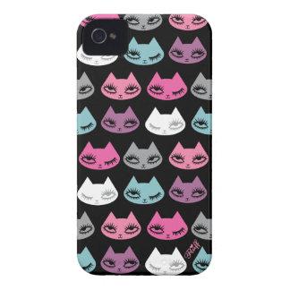 Caso de Iphone del gatito por la pelusa Funda Para iPhone 4