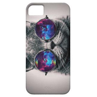 Caso de Iphone del gato de la galaxia iPhone 5 Case-Mate Cobertura