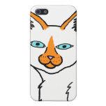 Caso de Iphone del gato siamés del punto de la lla iPhone 5 Protectores