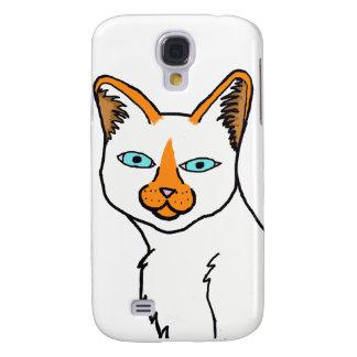 Caso de Iphone del gato siamés del punto de la lla Funda Para Galaxy S4