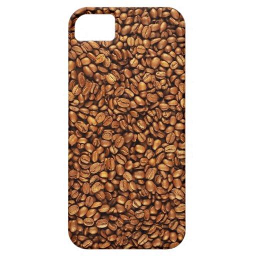Caso de Iphone del grano de café iPhone 5 Carcasas