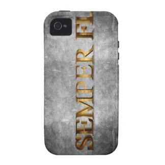 Caso de IPhone del Grunge de Semper Fi iPhone 4/4S Funda