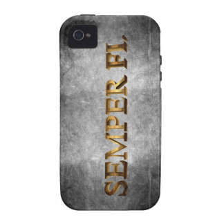 Caso de Iphone del Grunge de Semper Fi iPhone 4/4S Carcasa