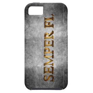 Caso de Iphone del Grunge de Semper Fi iPhone 5 Funda