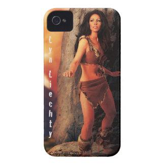 Caso de Iphone del hombre de las cavernas de Lyn iPhone 4 Case-Mate Protectores