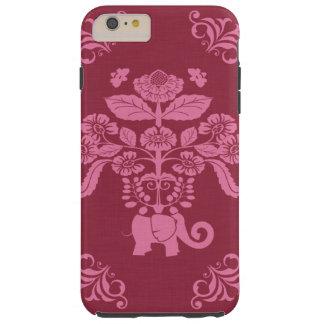 Caso de Iphone del jardín del elefante Funda De iPhone 6 Plus Tough